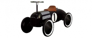 Ride-On Retro Racing Car in Black