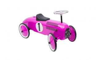 Bright pink racing car