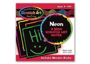 Mini Scratch Art Notes Neon