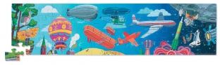 History of Flights Panoramic Floor Puzzle