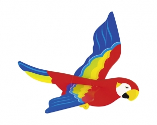 Large Swinging Parrot Mobile