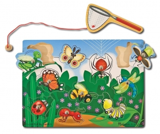 Magnetic Wooden Game - Bug Catch