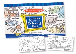 jumbo Colouring Pad - Blue