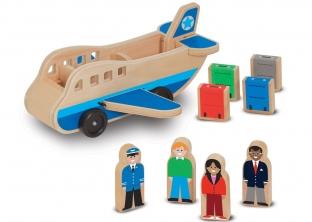 Airplane and passengers