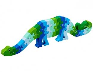 Dinosaur number jigsaw