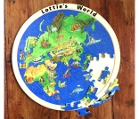 Personalised double sided world map
