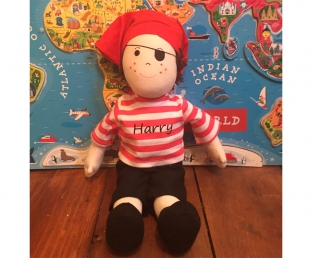 Personalised Pirate Rag Doll