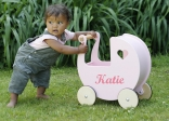 Personalised Push Along Doll's Pram
