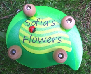 Personalised Leaf and Ladybird Flower Press