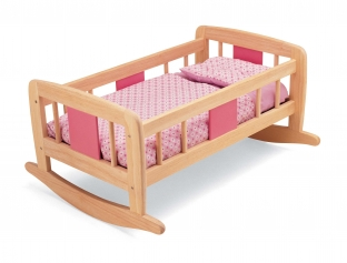 Wooden rocking cradle
