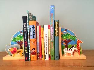 Wooden Safari bookends