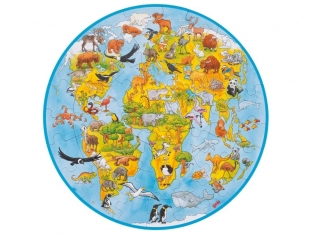 Large Animal World Puzzle