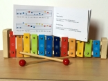Big colourful xylophone