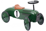 Racing green ride-on racing car
