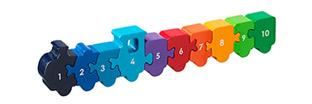 1 - 10 Train Puzzle