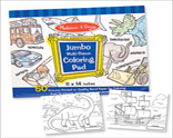 jumbo Colouring Pad - Blue